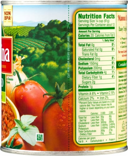Contadina Crushed Tomatoes with Italian Herbs Perspective: right