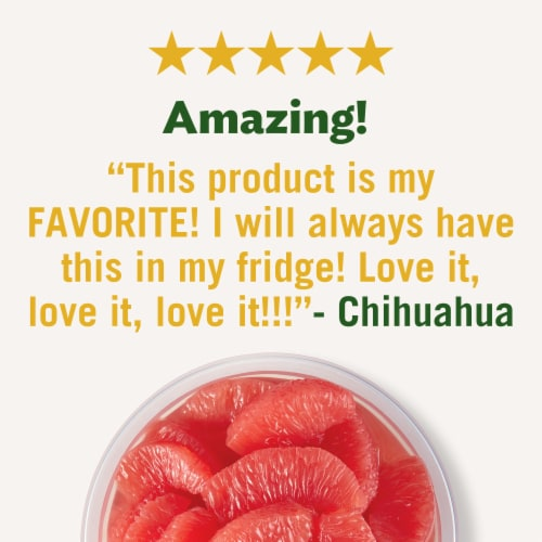 Del Monte Fruit Naturals Red Grapefruit Fruit Cup Perspective: right