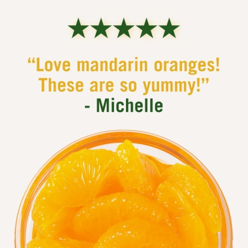 Del Monte Fruit Naturals Mandarin Oranges in Extra Light Syrup Cup Perspective: right