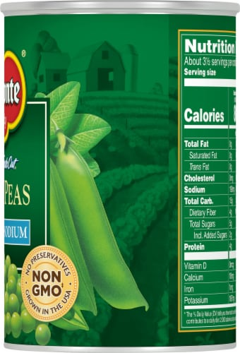 Del Monte Reduced Sodium Fresh Cut Sweet Peas Perspective: right