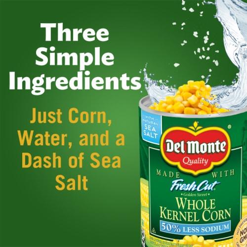 Del Monte Fresh Cut Reduced Sodium Whole Kernel Corn Perspective: right