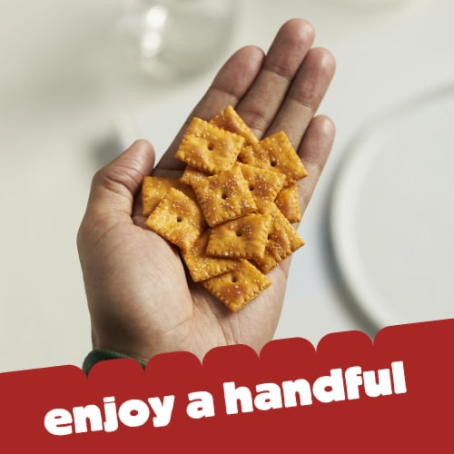 Cheez-It Baked Snack Cheese Crackers Reduced Fat Original Family Size Perspective: right