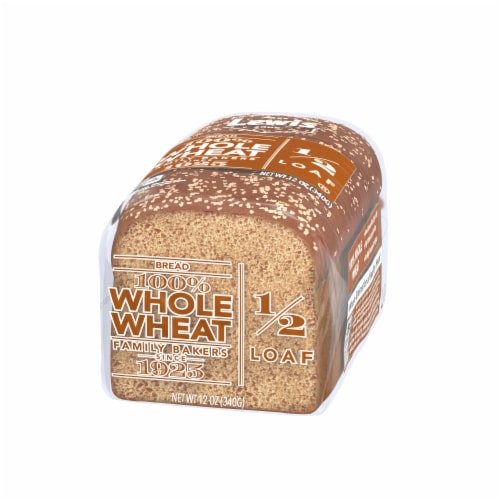 Lewis Bake Shop Half Loaf 100% Whole Wheat Bread Perspective: right