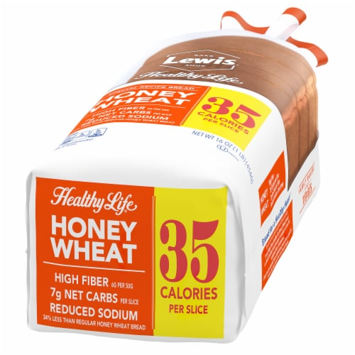 Healthy Life High Fiber Honey Wheat Bread Perspective: right