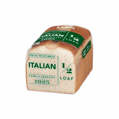 Lewis Bake Shop Italian Bread Half Loaf Perspective: right