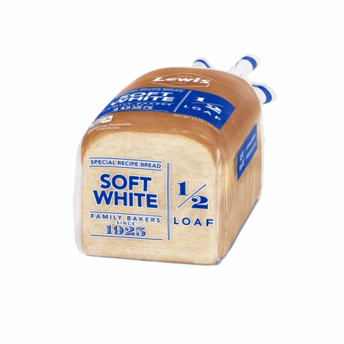 Lewis Bake Shop Half Loaf Soft White Bread Perspective: right