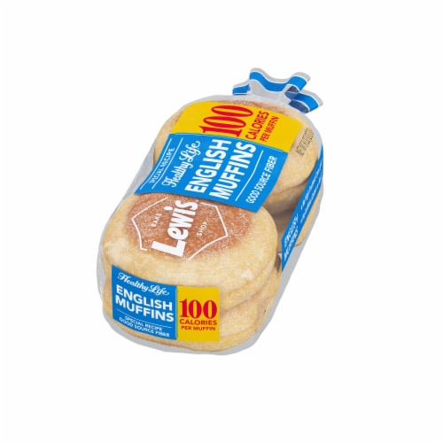 Lewis Bake Shop Healthy Life White English Muffins 4 Count Perspective: right