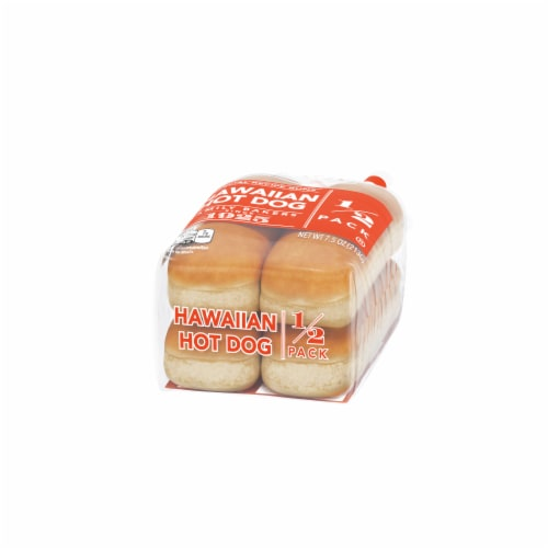 Lewis Bake Shop Special Recipe Hawaiian Hot Dog Buns 1/2 Pack Perspective: right