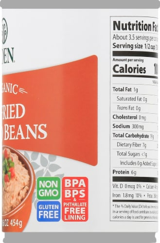 Eden Organic Refried Pinto Beans Perspective: right