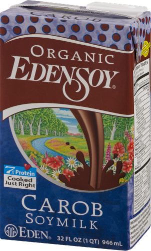 Organic Edensoy Carob Soy Milk Perspective: right