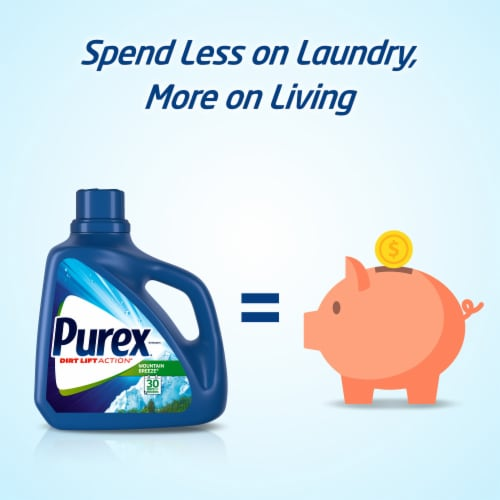 Purex® Natural Elements Dirt Lift Action® Linen & Lilies Liquid Laundry Detergent Perspective: right