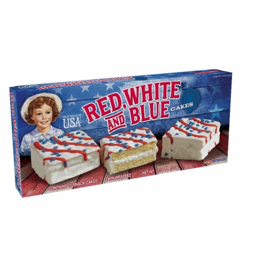 Little Debbie Vanilla Red White & Blue Cakes Perspective: right