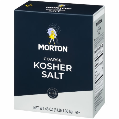 Morton Coarse Kosher Salt Perspective: right