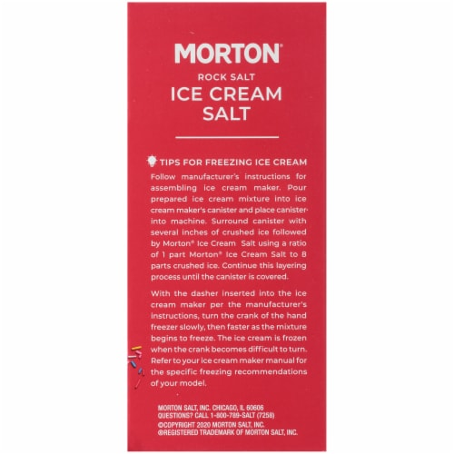 Morton Ice Cream Salt Perspective: right