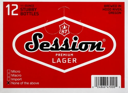 Full Sail Brewing Co. Session Premium Lager Perspective: right