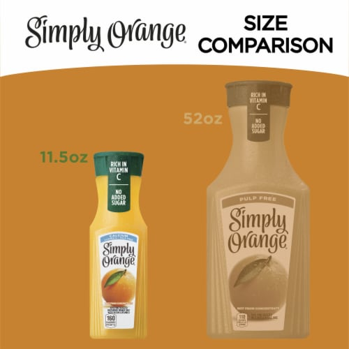 Simply Orange Pulp Free Juice Drink Perspective: right