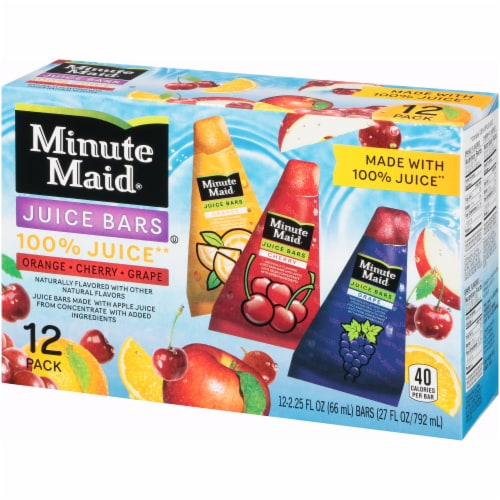 Minute Maid Orange Cherry Grape Juice Bars Perspective: right