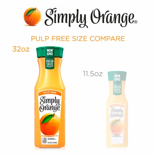 Simply Orange Pulp Free Juice Perspective: right