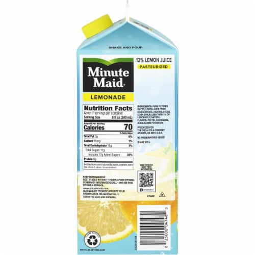 Minute Maid® Lemonade Perspective: right