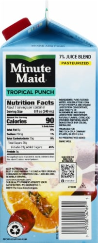 Minute Maid Tropical Punch Fruit Juice Drink Perspective: right