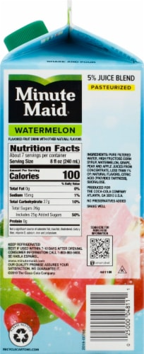 Minute Maid Watermelon Flavored Fruit Juice Drink Perspective: right