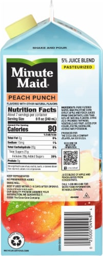 Minute Maid Peach Punch Fruit Juice Drink Perspective: right