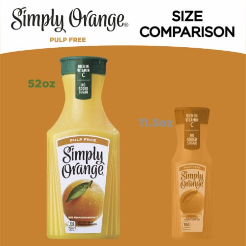 Simply Orange Pulp Free Orange Juice Perspective: right