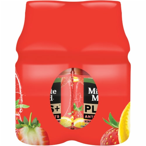 Minute Maid Plus+ Antioxidants Strawberry Lemonade Fruit Juice Drink Perspective: right