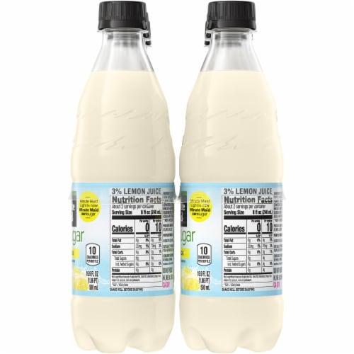 Minute Maid Zero Sugar Lemonade Fruit Juice Drink Perspective: right