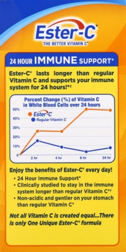 Ester-C Immune Support Tablets 500mg 90 Count Perspective: right