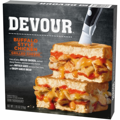 Devour Buffalo Chicken Grilled Cheese Perspective: right