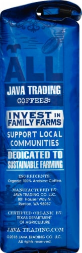 Java Trading Organic Peru Chanchamayo Ground Coffee Perspective: right