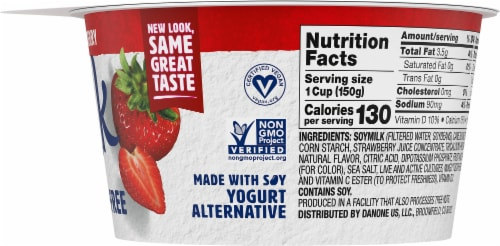 Silk Strawberry Dairy-Free Soy Yogurt Alternative Perspective: right