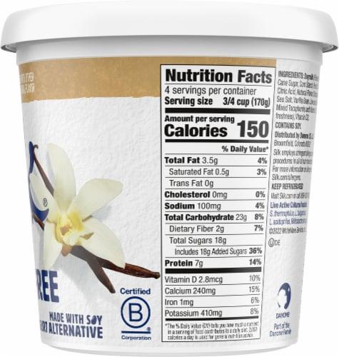 Silk Vanilla Dairy-Free Soy Yogurt Alternative Perspective: right