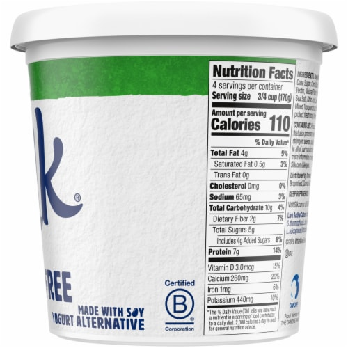 Silk Plain Dairy-Free Soy Yogurt Alternative Perspective: right