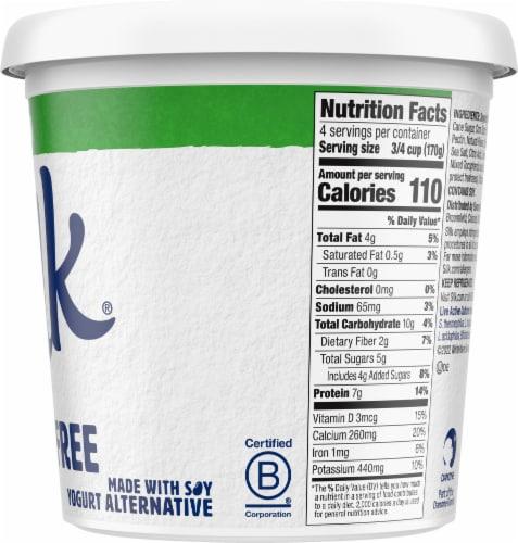 Silk® Plain Dairy-Free Soy Yogurt Alternative Perspective: right