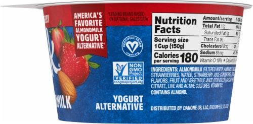 SilkStrawberry Almond Milk Yogurt Alternative Perspective: right