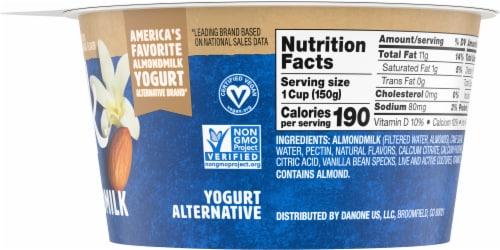 Silk Vanilla Almond Milk Yogurt Alternative Perspective: right