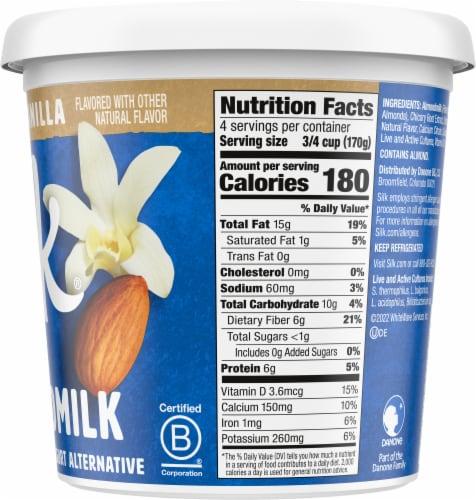 Silk Unsweetened Vanilla Almondmilk Yogurt Alternative Perspective: right