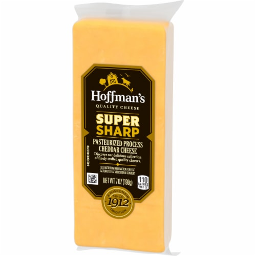 Hoffman's Super Sharp Cheddar Cheese Perspective: right