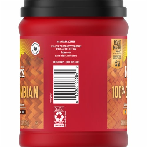 Folgers 100% Colombian Medium Ground Coffee Perspective: right