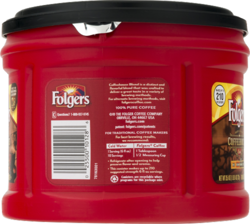 Folgers Coffeehouse Blend Med-Dark Ground Coffee Perspective: right