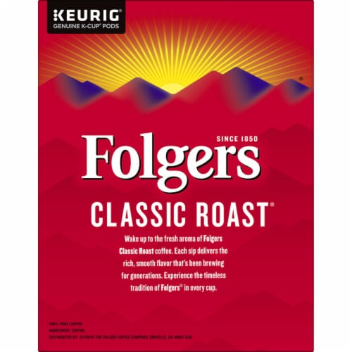 Folgers Classic Roast Coffee K-Cup Pods Perspective: right
