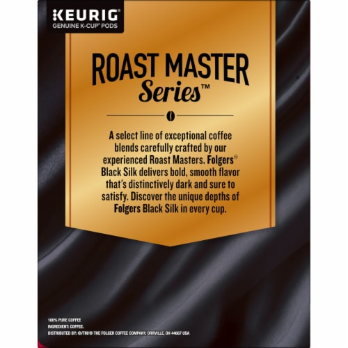 Folgers Black Silk Dark Roast Coffee K-Cup Pods Perspective: right