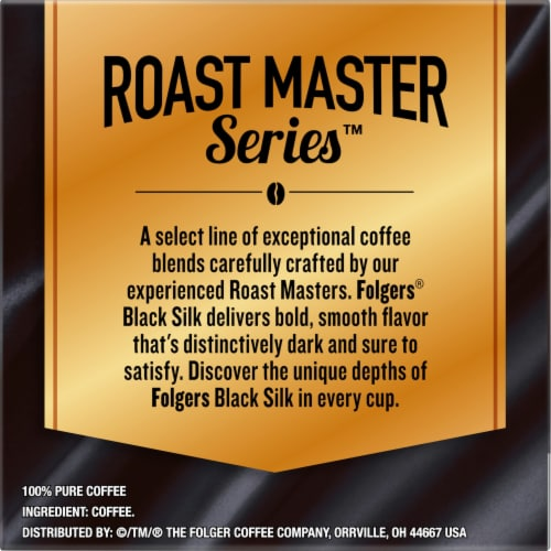 Folgers Gourmet Selections Black Silk Dark Roast Coffee K-Cup Pods Perspective: right
