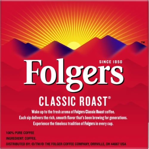 Folgers Gourmet Classic Roast K-Cup Pods Perspective: right