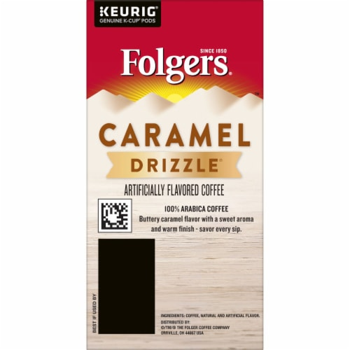 Folgers Caramel Drizzle Coffee K-Cup Pods Perspective: right