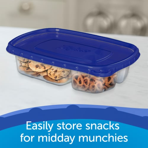 Ziploc Divided Rectangle Containers and Lids Perspective: right