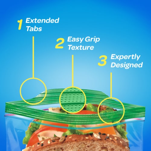 Ziploc Seal Top Sandwich Bags Perspective: right