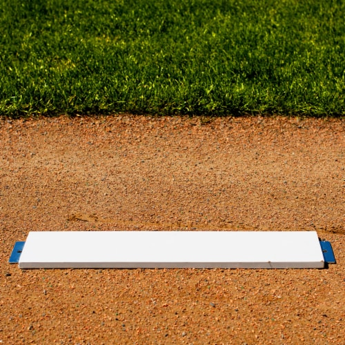 Franklin MLB Pitcher's Rubber with Stake - White Perspective: right